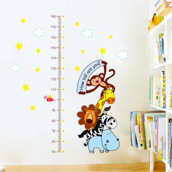 Tong Bao cute animal measuring height adhesive paper card