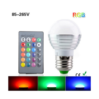 TopOne E27 16 Colors Changing 3W RGB LED Light Bulb LED lights with IR Remote Control for Home Decoration/Bar/Party/Karaoke