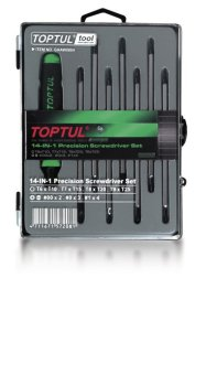 Toptul 8PCS 14-In-1 Precision Screwdriver Set