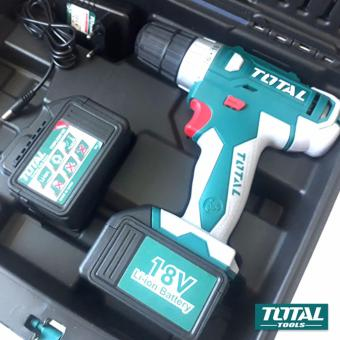 TOTAL 18V Li-ion Cordless Drill with Extra Battery Pack TDLI228180