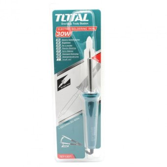 Total 30W Electric Straight Head Soldering Iron w/ Standby dock