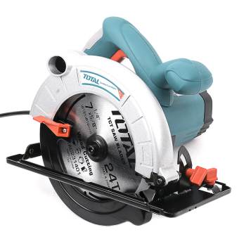 Total Circular Saw 1400W with Free Aluminum 185 mm Blade Heavy Duty(Blue Green) - 2