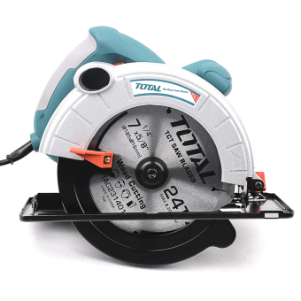 Total Circular Saw 1400W with Free Aluminum 185 mm Blade Heavy Duty(Blue Green)
