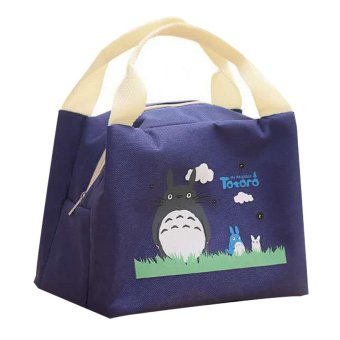 Totoro Lunch Box Storage Bag (Navy Blue)