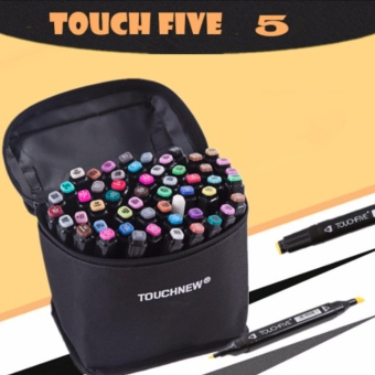 Touch Five Colors Graphic Art Twin Marker Point Tip Pen 36 Colors (Black)