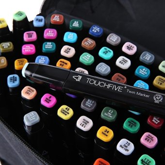 Touch Five Colors Graphic Art Twin Tip Marker Pen Multicolor 30pcs- intl - 2