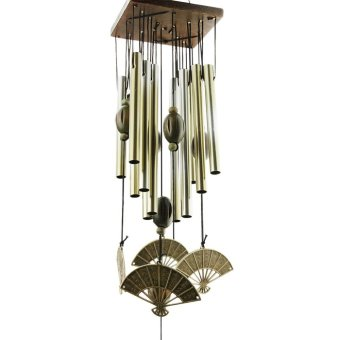 Traditional Good Lucky Handmade Wind Chimes Copper Bronze BellsWind-chime Home Hanging Ornament Garden Window Yard Home Decor Gift(Tubes Fanned) - intl Price Philippines