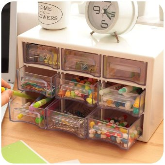 Transparent Acrylic Plastic Drawers Storage Sundries JewelryStorage Cabinets Desk Organizer - intl