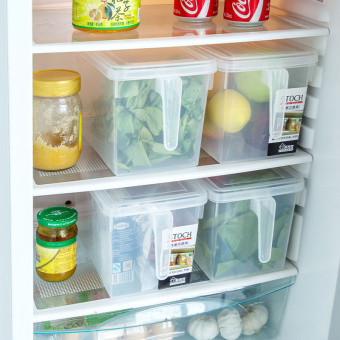 Transparent can be superimposed with lid storage box refrigerator storage box