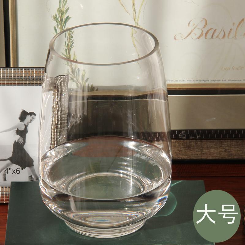 Philippines Transparent Glass Melon Handmade Small Fish Tank Vase
