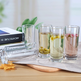 Transparent household drinking cup