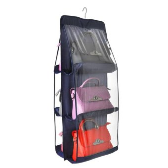 Transparent Package Admission Hanging Bag Wardrobe Suspension TypeStorage Bag Multi Closet Fabric Art Dustproof Wall Hanging StorageRack - intl