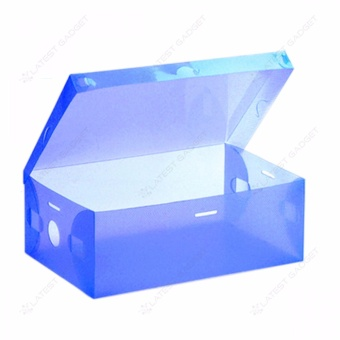 Transparent Shoe Box 28.5 x 10 x 18.5 cm (Blue)