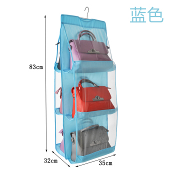 Transparent wardrobe hanging-wall hangers organizing folders storage hanging bag