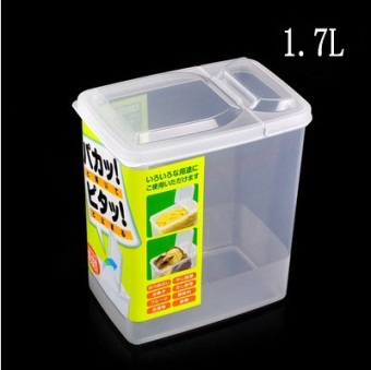 Transparent with cover food grains storage box plastic food container