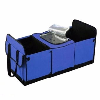 Trendsetter Blue Car Trunk Organizer Collapsible Toys Food StorageTruck Cargo Container
