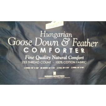 "Trendsetter Collection Hungarian Goose Down and Feather ComforterQueen Size 86x96"" with Fabric Cover (White) Price Philippines"