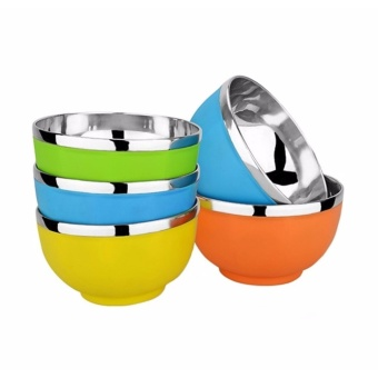 Trendsetter Stainless Steel Korean Rice Candy Bowl 5-piece Set 13cm(Multicolor)