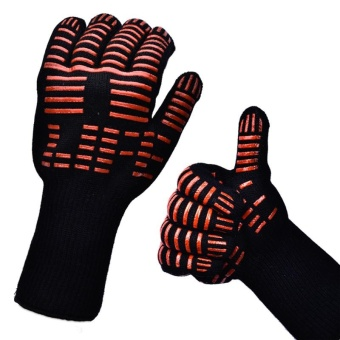 TTLIFE Oven Mitts Gloves BBQ Grilling Cooking Gloves - 932F ExtremeHeat Resistant Gloves Long For Extra Forearm Protection - intl