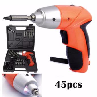 TUOYE Cordless Rechargeable Handy Drill Screwdriver 45pcs Set with bits holder
