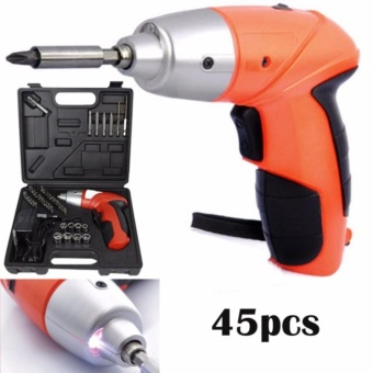 TUOYE Cordless Rechargeable Handy Drill Screwdriver 45pcs Set withbits holder
