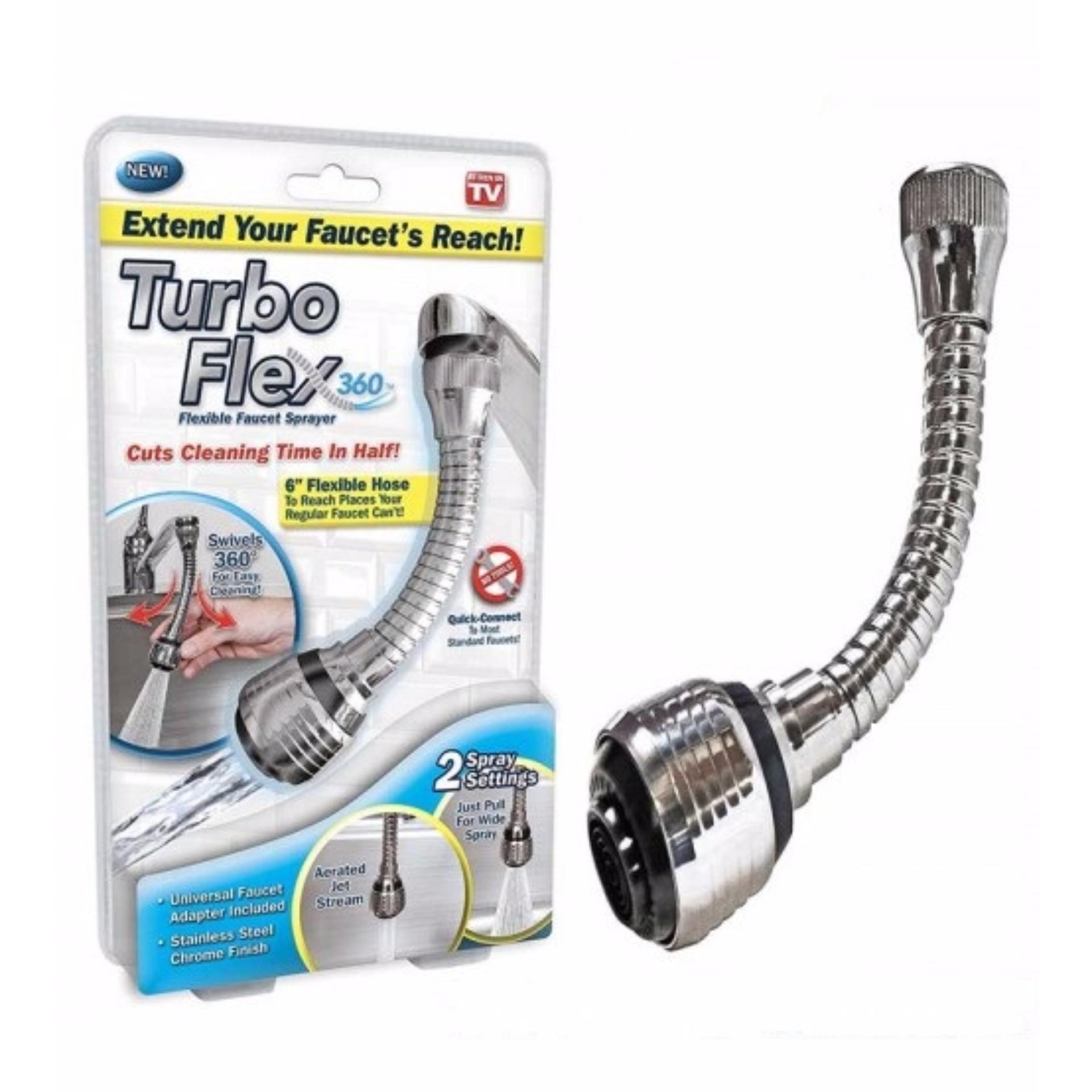 Flex 360 Degree Instant Hands Free Faucet Swivel Spray Sink Hose ...