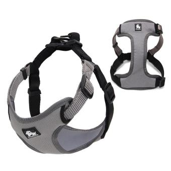 TURELOVE Soft Dog Harness 3M Reflective Pet Vest - Size: S, Grey /Black - intl