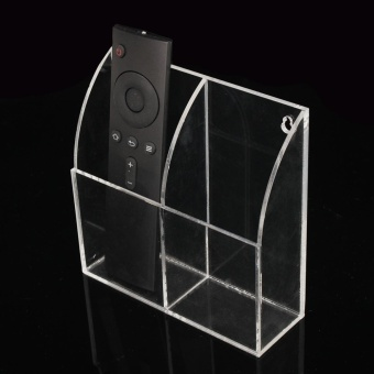 TV Remote Control Holder Wall Mount Acrylic Organiser Box Home Storage Rack