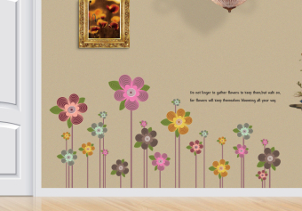 Ufengke UF-WL0229 Colorful Flowers Wall Sticker Multicolor - picture 2