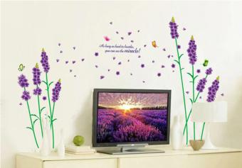 ufengke UF-WL0301 Flowers and Butterflies Wall Sticker Purple