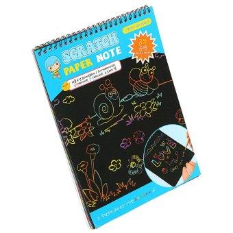 UJS Black Cardboard Creative DIY Draw Sketch Kids Notebook Zakka School Supply (Intl) - picture 2