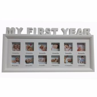 ultralite 12 picture my first year babies picture frame white - My First Year Frame