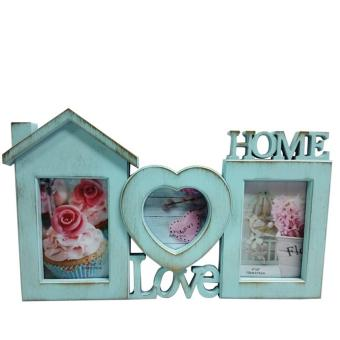 Ultralite 3-Picture Collage Love-Home Vintage Blue Finish Photo Frame