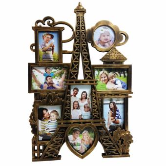 Ultralite Large 8 Pictures Collage Eiffel Tower Photo Frame (Bronze)