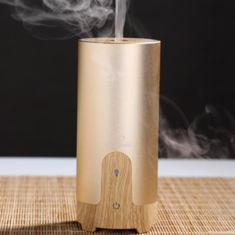 Ultrasonic Aroma Air Humidifier Oil Diffuser Mist Maker For HomeCar (Gold)