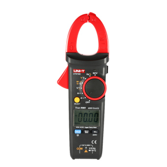 UNI-T UT213C Handheld Digital LCD Clamp Meter Multimeter AC/DC Voltage AC/DC Current Resistance Capacitance Diode Continuity NCV Temperature Measurement Tester with Flashlight