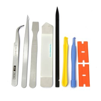 Universal 9 in1 Opening Repair Tools Pry Metal Spudger Tool Kit Set For iPhone