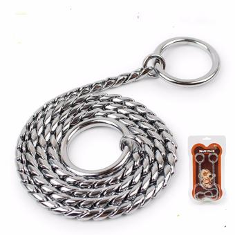 Universal Stainless Steel Adjustable Training Dog Collar SnakeChain(55cm*4.0mm) - intl Price Philippines