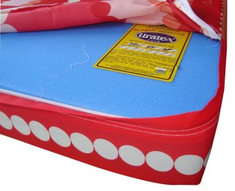 "Uratex foam with china cover 5.5"" x 36"" x 75"" (RED) Price Philippines"