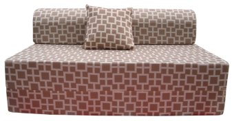Uratex neo sofa bed brown with free pillow lazada ph for Sofa bed lazada