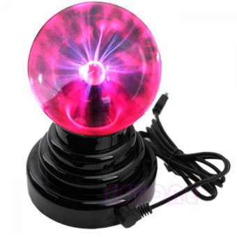 USB Magic Touch Sensitive Plasma Ball Black Base Glass SoundActivated Sphere Lightning Party Table Bedside Lamps Light Lightingfor Birthday Gift