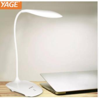 USB Rechargeable LED Touch Sensor Table Desk Lamp Dimmable Reading Study Light (white)