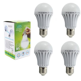 V-Long 12W LED Intelligent Emergency Light Bulb Set Of 4
