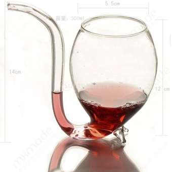 Vampire Red Wine Glass Sucking Cup Mug With Drinking Tube Straw - picture 3