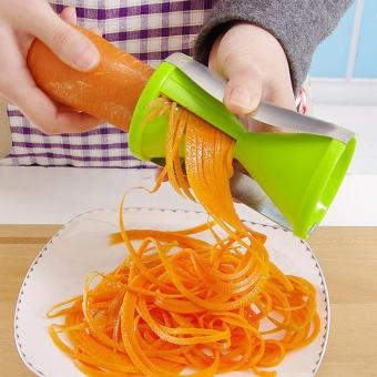 Vegetable spiral slicer carrot cucumber zucchini noodle julienne cutter peeler kitchen piece grater cooking tool - intl
