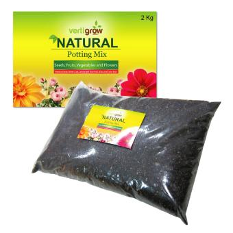 Vertigrow 2KGS Natural Planting Mix and Potting Soil NutrientsPerfect for Fruits, Vegetables, Seedlings, Transplant, andContainer Plants