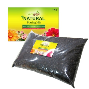 Vertigrow 4KG Natural Planting Mix and Potting Soil NutrientsPerfect for Fruits, Vegetables, Seedlings, Transplant, andContainer Plants