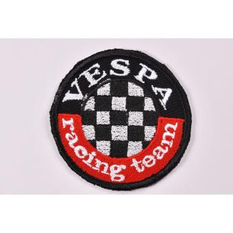 Vespa Racing Team Cloth Patch & Vespa Script Embroidered PatchSet (Get 2) - 2