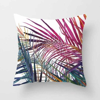 Vintage Flower Tropical Leaves Pillow Case Cushion Cover Home Decor #13 - intl