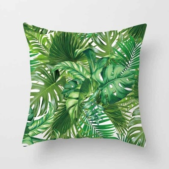 Vintage Flower Tropical Leaves Pillow Case Cushion Cover Home Decor #22 - intl